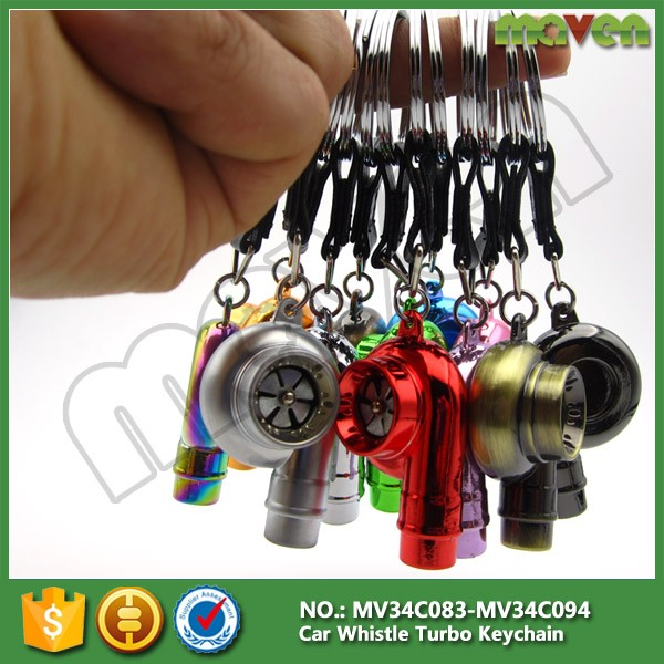 Racing JDM Car Auto Part Whistle Sound Spinning Tuning Turbo Turbine Keychain Keyring Key Chain Ring