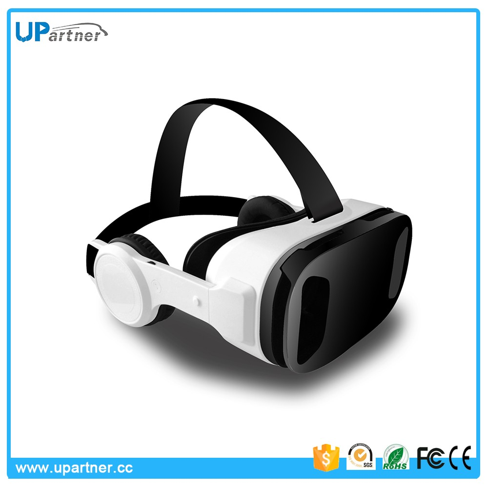 UPartner manufacture hot selling 3D VR Glasses Box 3d movies free download VR Headset with HIFI earphone