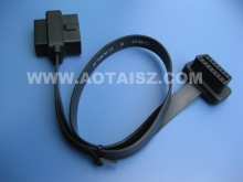16 pin obdii cable obd GPS tracker cable j1962 y flat