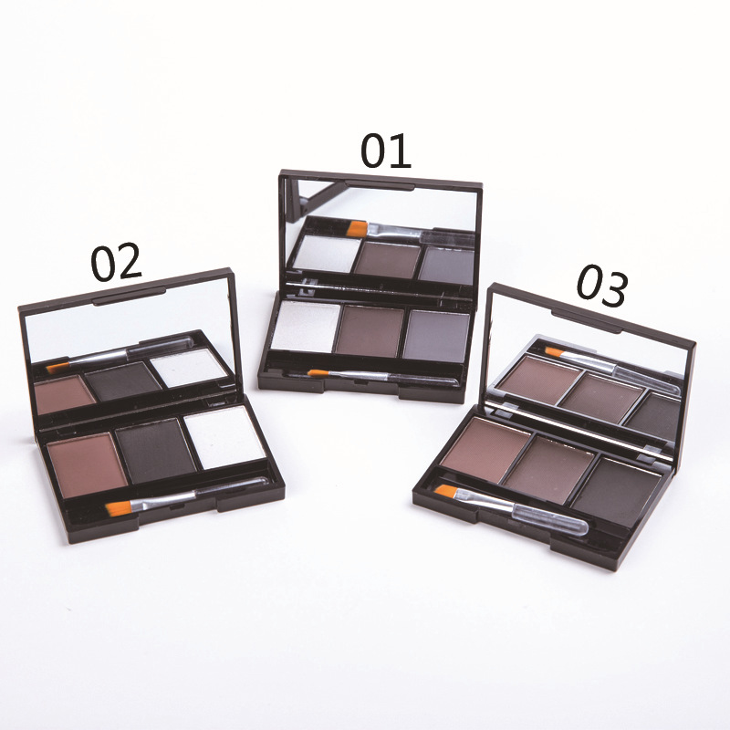 Popular 3 colors waterproof permanent eyebrow powder wholesale