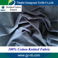 Knitted fabric manufacturer 26s 100% cotton jersey fabric plain dyed soft and eco-friendly knitted fabric