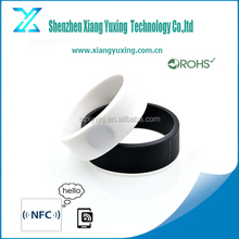 13.56mhz festival access control nfc rfid bracelet silicon / paper / woven