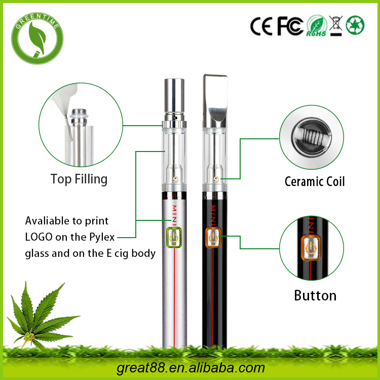 Free OEM slim Co2 extract refillable cbd cartridge brilliant smoke e cig0.5ml disposable Rechargeable oil wholesale cbd vape pen