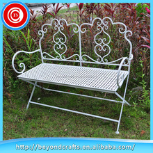 New products on china market Wrought iron garden bench, metal garden bench