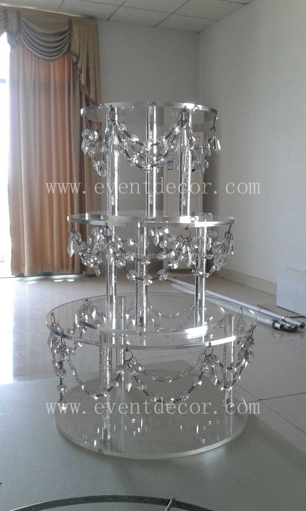 Trade Cake Stands : Wholesale crystal acrylic cake stand decorative hanging