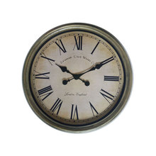 20 inches plastic antique wall clock gold