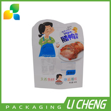 Food grade paper plastic composite bag for dried duck meat packaging