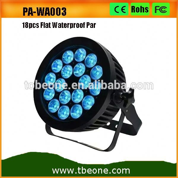 18x12w RGBWA UV waterproof Slim Par IP65 outdoor flat thin led par 64 rgbwa uv led par stage light