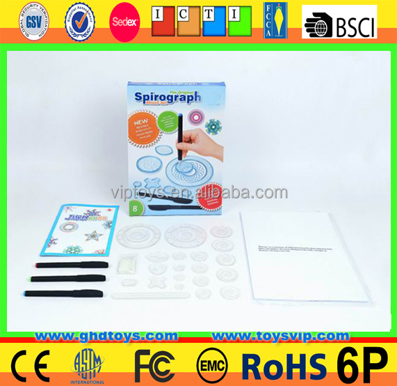 arty set spirograph toy ,drawing toy for kids Cra-Z-Line-Art Spiral Amazing Art Kit Drawing Rule Spirograph