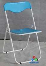 Zhangzhou furniture metal frame plastic folding chairs wholesale