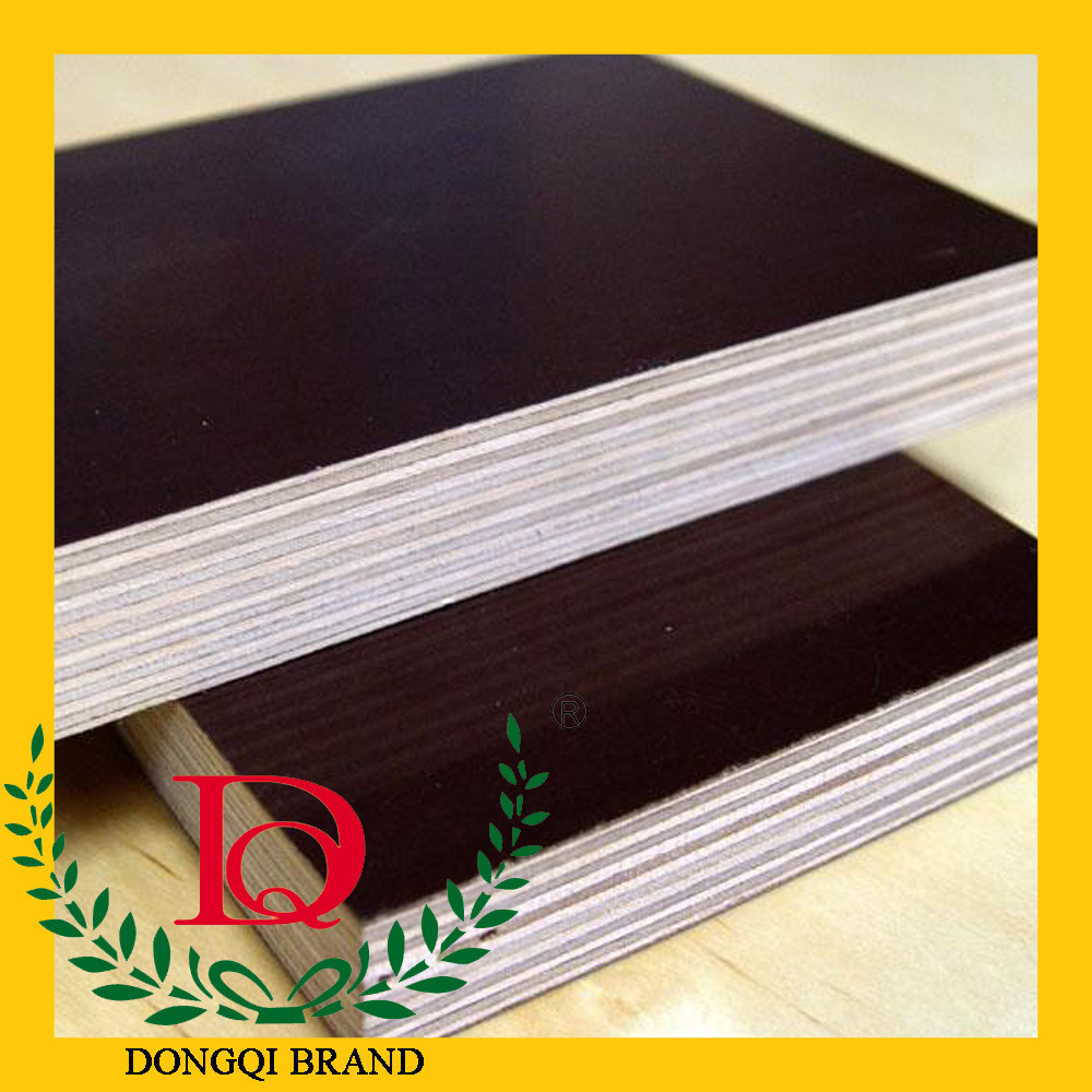 phenolic wbp waterproof glue brown black film faced plywood,concerete shuttering plywood for construction