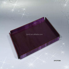 Square Acrylic shower tray/acrylic serving tray with handles for export wholesale