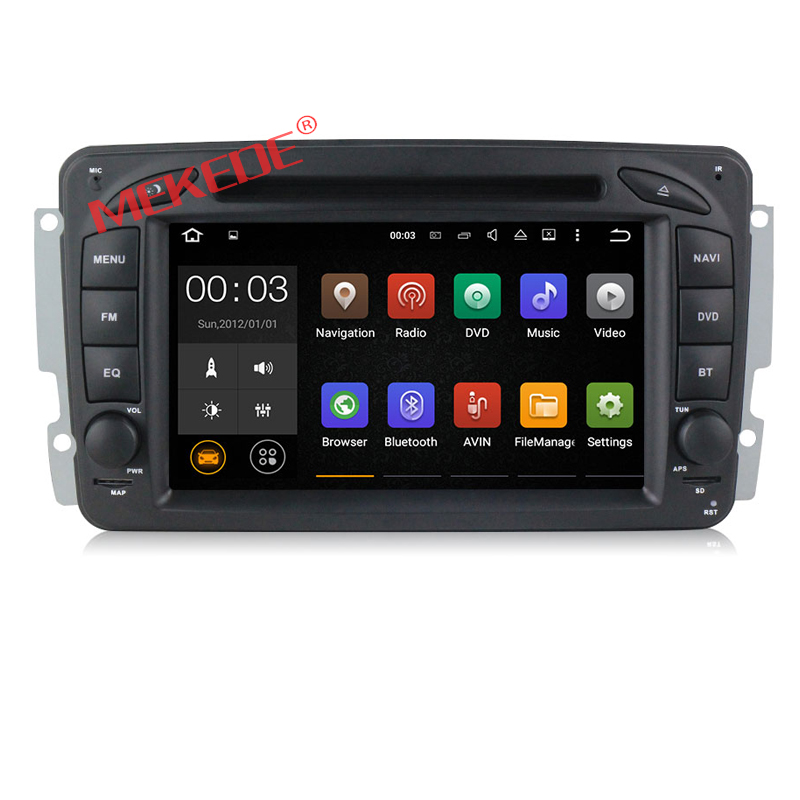 Factory price ANDROID 7.1 CAR DVD player GPS navigation For W209 W203 W168 ML W163 W463 Viano W639 Vito Vaneo Wifi DVD Radio