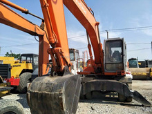 Japan Heavy Equipment,Cheap Used EX160 Wheel Excavator For Sale
