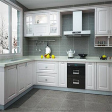 China suppliers modern Italian kitchen furniture with white color kitchen design,pvc kitchen cabinets