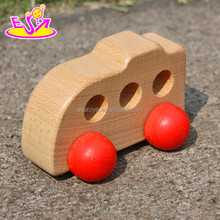 New Style Cute Toy Car Mini Wooden Vehicle Toy,Mini cute wooden toy car for kids,Small wooden car toy for children W04A124
