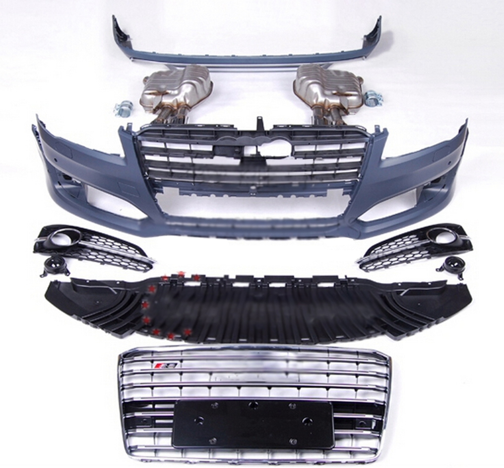 PP Material S8 Style A8 Car Body Kits for AUDI A8 13-15