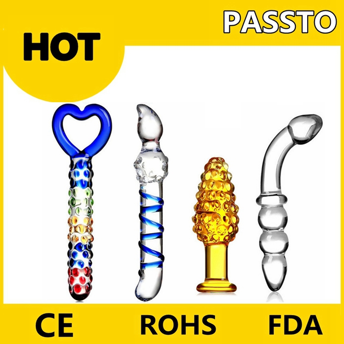 2017 new products female vibrator sex toys double ended headed pyrex glass dildo