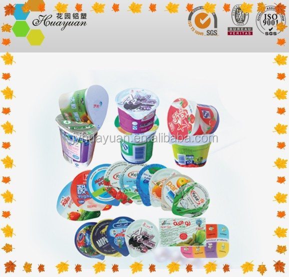 Aluminum Foil Lids Precut Embossed PP Lacquer For Plastic Yogurt Cups Sealing