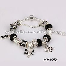 Christmas skull and bow bracelet gift