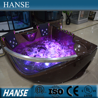 HS-B219 bathroom special design two person corner massage bathtub