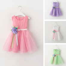 W92457A 2016 newest kids party wear dresses girls children frocks designs girls summer frock designs