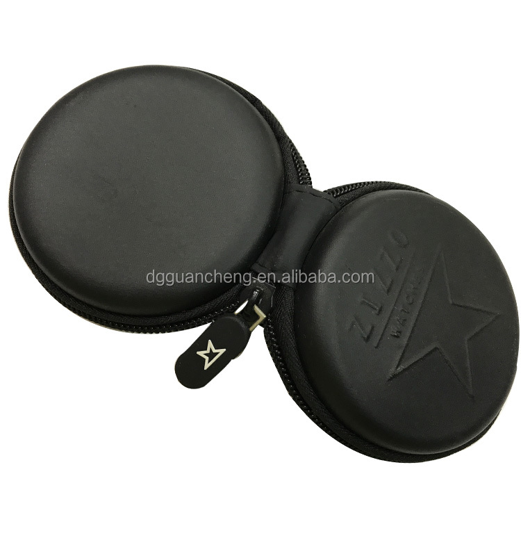 GC---Black color Amazing pu cover eva earphone protective packaging case