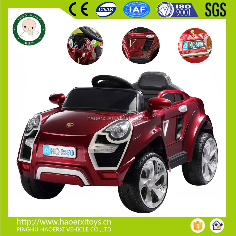 Newly fashion product CE approval 4 wheel electrical children electric toy parent remote control ride on car for kids fun