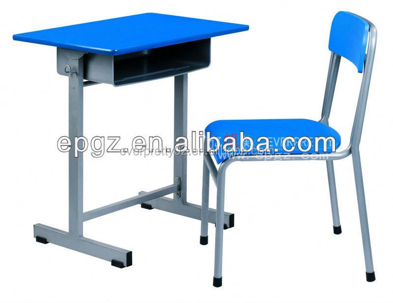 Cheap Sale!! Single desk chair used school furniture,School single desk and chair