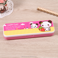 hard double side open plastic pencil case for teenagers j16