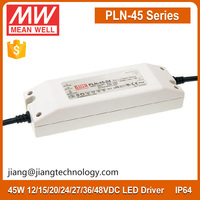 45W 36V LED Driver PLN-45-36 Mean Well LED Lighting Power Supply