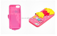 NEW 3D Cartoon Cute Soft Silicone Back Cover Case For iPhone 4 4S 5 5S