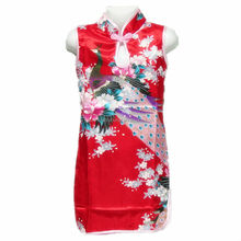 Chinese silk <strong>girl's</strong> cheongsam <strong>dress</strong> kimono ,children cheongsam CQ003