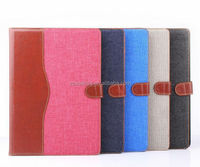 For ipad 6 wallet jeans leather case pouch, for ipad 6 Flip case , leather cover for ipad air 2