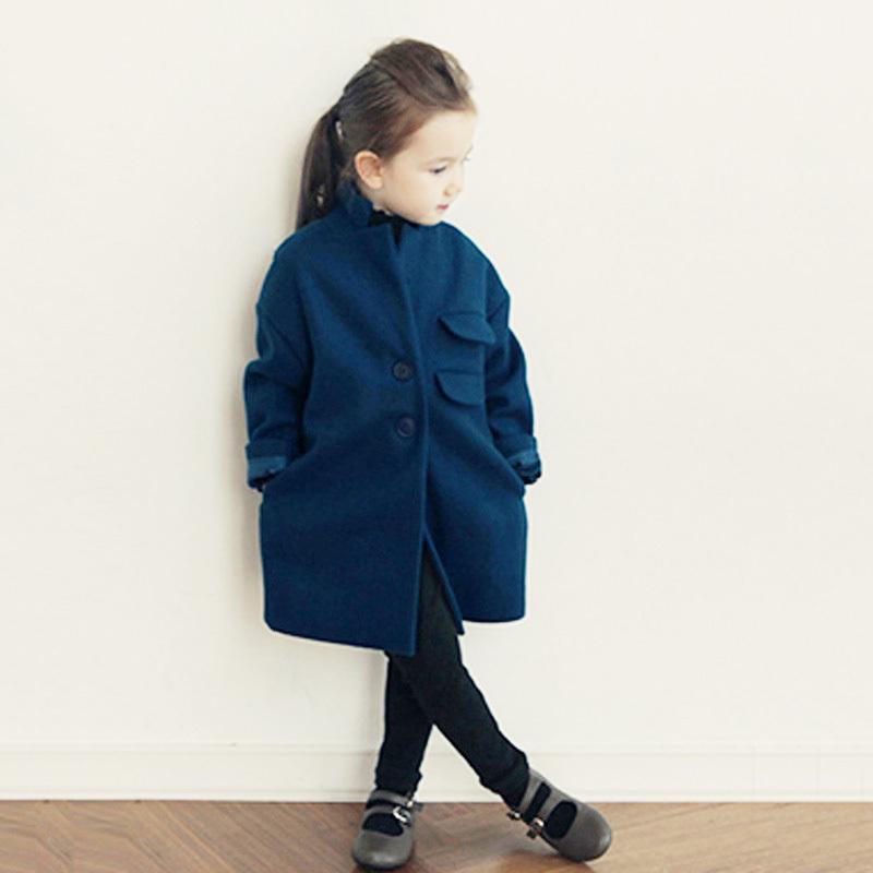 33f84cd245d9 Buy 2015 girls wool winter coats korean style roupas infantis menina ...