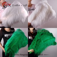 CHINA HX Factory wholesale carnival gold white ostrich feathers 15-80cm