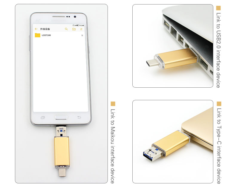 New Products 2018 OTG <strong>USB</strong> 3.1 Type C Flash Drive 16gb wholesale