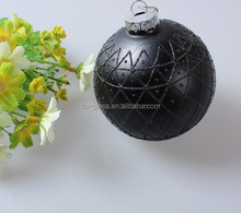 new arrival Cheapest China OEM factory printing christmas ball,glass christmas ball stained glass hanging decoration