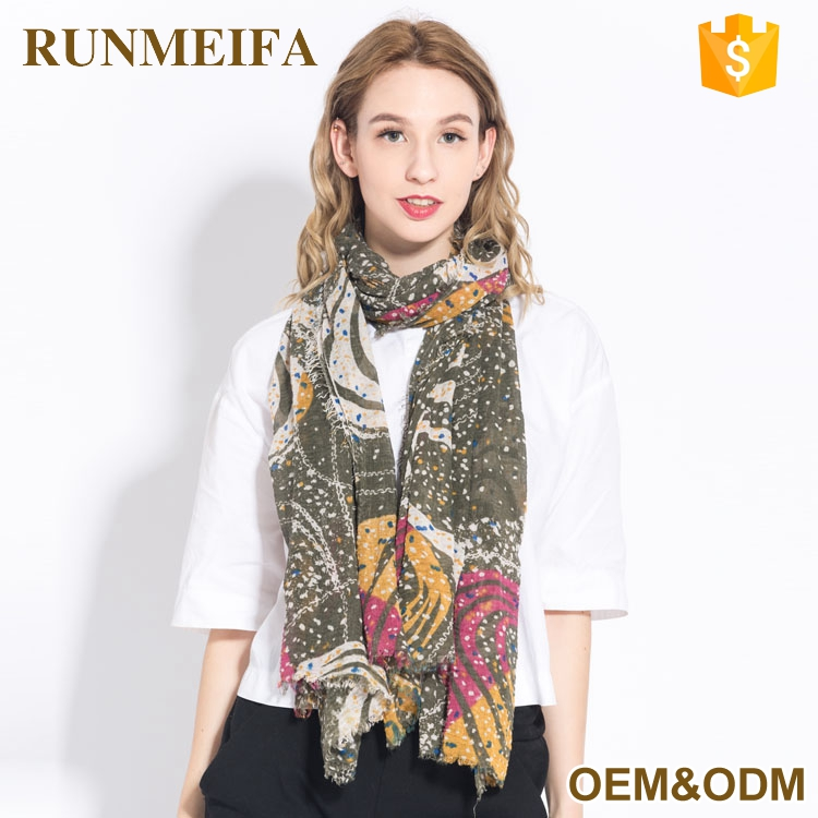 Hot Selling Fashion Modern Scarf Cotton Viscose Shawl Trendy Scarf 2017