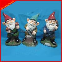 2015 new style ceramic garden decorative gnomes/ elf figurine, drawf gaden statue