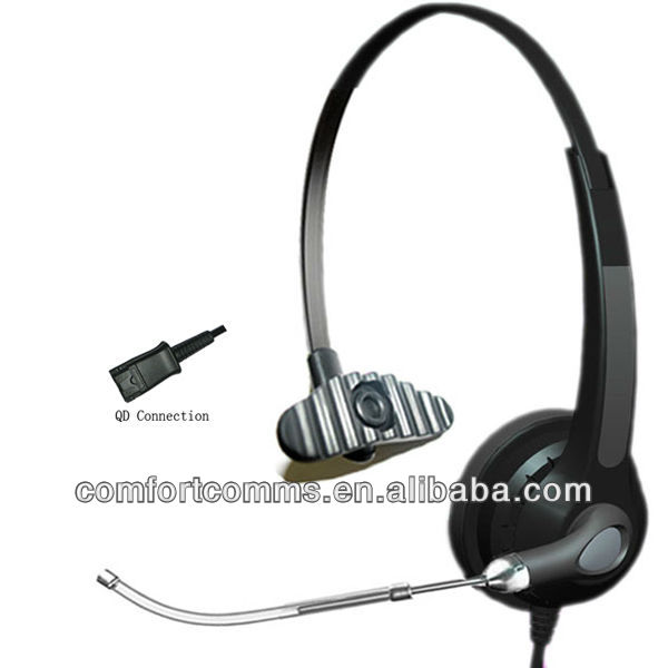 Most popular manaural call center headset with Voice Tube HSM-900TPQD