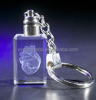 3d laser engraved crystal cross key chain christian promotional gift