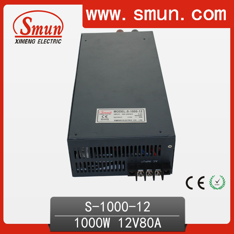 1000W 12V 80A Switched Mode Power Supply SMPS S-1000-12