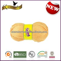 Sell well in North Ameica and Europe market yellow wool acrylic blend hand knitting yarn at cheap price