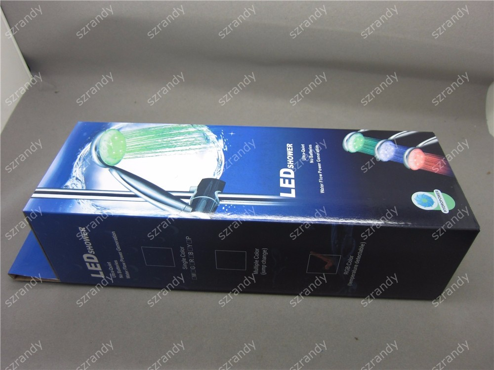 temperature sensor 3 colors led shower head LD8008-A1