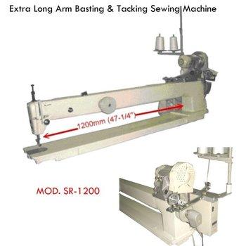 machine tacking a quilt