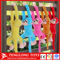 plush hanging monkey names,long arms and legs monkey plush toy, soft toy monkey