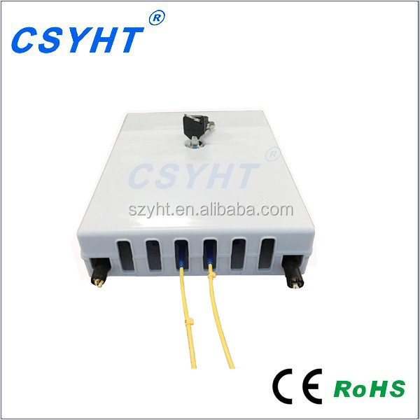 FTTH indoor Optical Fiber Distribution Box / Cable Terminal Box 24 Core