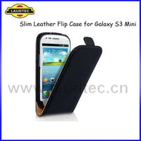 Black Premium Slim Magnetic Leather Flip Case for Samsung Galaxy S3 Mini i8190.Galaxy S3 Mini Leather Case