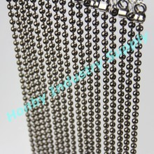 Gun metal plated hanging beaded door curtain